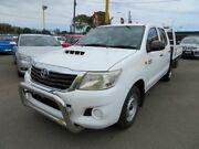 2012 Toyota Hilux KUN16R SR White 5 Speed Manual Dual Cab Morphett Vale Morphett Vale Area Preview