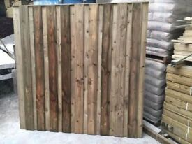 🌟 Under & Over Flat Top Pressure Treated Fence Panels