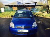 Toyota Yaris 1.3 VVT-I 2003(Blue) Car going cheap and good condition