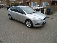 FORD FOCUS STYLE,2008/08,SILVER,MANUAL,5 DR H/B