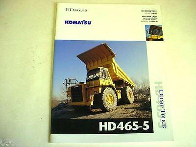 Komatsu Hd465-5 Dump Truck Color Brochure