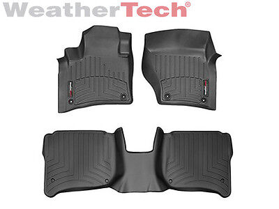 WeatherTech FloorLiner for Cayenne/Touareg w/4-Zone - 1st/2nd Row - Black