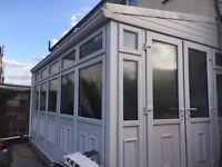 Conservatory, white uPVC, double glazed, good condition