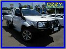 2015 Toyota Hilux KUN26R MY14 SR (4x4) Glacier White 5 Speed Manual Cab Chassis
