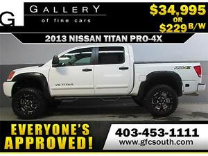 2013 NISSAN TITAN LIFTED *EVERYONE APPROVED* $0 DOWN $229/BW!