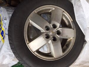 Winter Tires 15 inch with Chevy rims.