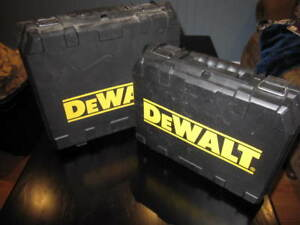 Dewalt Cases + DW9118 Charger and 12 Volt Battery