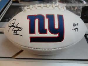 Lawrence Taylor NY Giants Autographed Football with coa