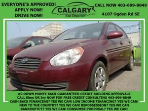2009 Hyundai Accent Man L * $28 DOWN  EVERYONE APPROVED*