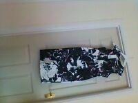 floral satin wiggle dress