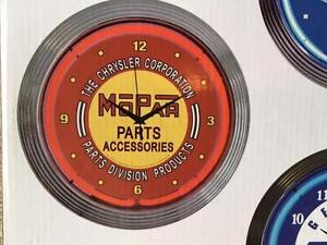 MOPAR - NEON CLOCK Brand New