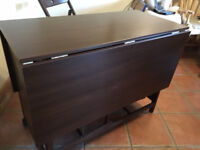 Extendable Rectangle Dining Table & 4 Folding Chairs - Chair Store in the Table