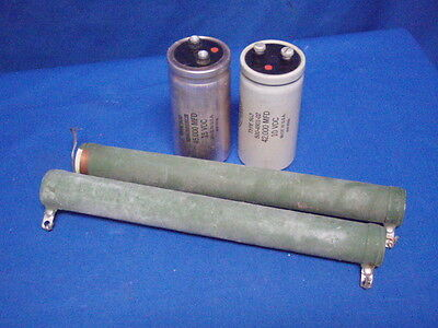 Mixed Lot Of Samgamd Capacitors And Clarostat Resistors Used