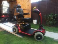 Nearly Brand New Pride Colt Sport Mobility Scooter Only £575 - 2 Stone Capacity - VERY Fast