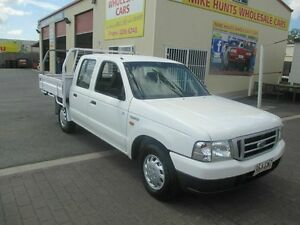 2002 Ford Courier PE GL White 5 Speed Manual Dual Cab Coopers Plains Brisbane South West Preview