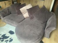 DFS chaise sofa 4 seater