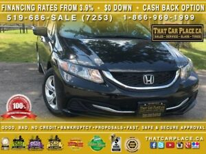 2015 Honda Civic LX|$54/Wk|Backup CAM|USB/AUX|Htd Seats|Bluetoot
