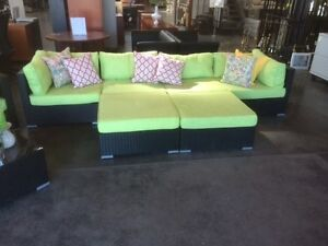 Oversize Green Patio Furniture Set -Can be configured many ways