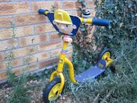 Bob Builder scooter yellow Boy child bike