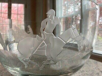 "Milon Townsend Glass Art Crystal Bowl - Mint Condition!  12"" x 7 1/2"""