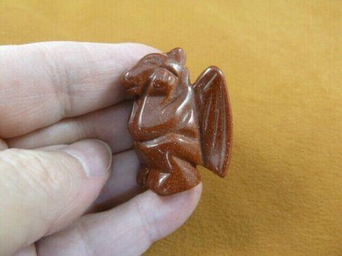 Y-GAR-556 little orange statue GARGOYLE gemstone GARGOYLES Gothic stone carving
