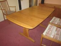 ERCOL Diningroom table and chairs