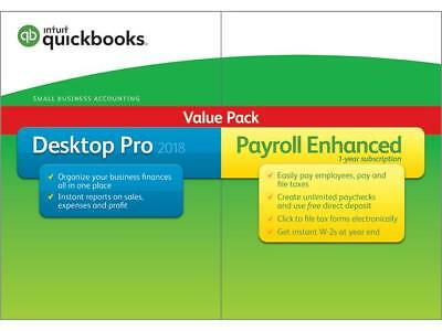Intuit Quickbooks Desktop Pro With Enhanced Payroll 2018