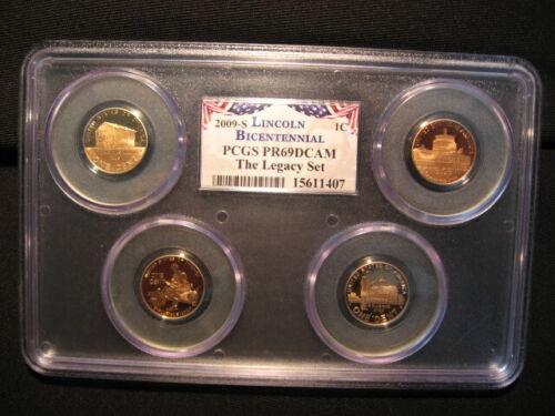 2009 S Lincoln 4 Coin Cent Set PCGS PR69DCAM Legacy Set