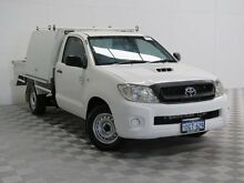 2009 Toyota Hilux KUN16R 09 Upgrade SR White 5 Speed Manual Cab Chassis Atwell Cockburn Area Preview