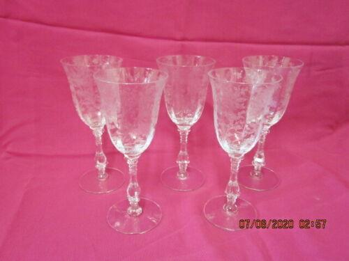 I CAMBRIDGE WILDFLOWER CLEAR CLARET WINE  GLASS PATTERN 3121