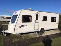 Bailey Pageant Burgundy 2007 4 berth fixed bed touring caravan series 6
