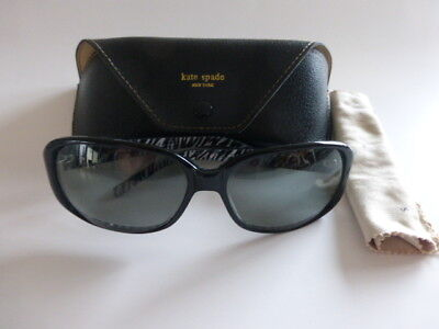 Kate Spade VITA/S TR9P Sunglasses - Black Zebra w/Grey Polarized Lenses