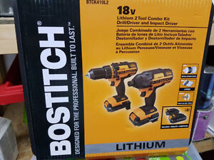 BOSTITCH 18V -Lithium 2 Tool Combo (Drill and Impact Driver) NEW