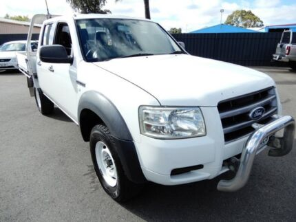 2007 Ford Ranger PJ XL Crew Cab White 5 Speed Manual Cab Chassis Enfield Port Adelaide Area Preview
