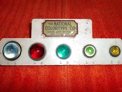 "OLD!! RARE!! Antique Salesman Sample ""GLASS CAT EYE REFLECTOR DISPLAY"" CATEYES"