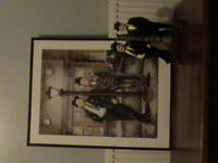 Laurel and Hardy Hardback Print with Matching Statue