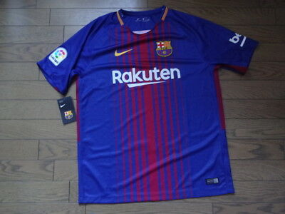 e895acdcdc9 FC Barcelona 100% Original Jersey Shirt 2017/18 Home Kit BNWT L BNWT NEW