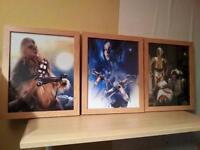 star wars framed pictures x 3 (2)