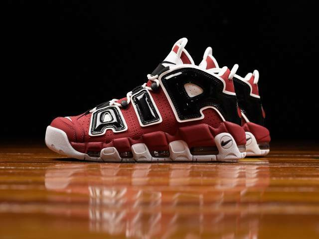 Nike Air More UPTEMPO Chicago Bulls Pippen 96 Red Black 921948-600 GS Mens 4Y-13