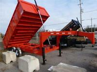 NEW GOOSE NECK  --  2014 HEAVY DUTY 7 TON DUMP 8 X 16 FT.
