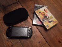 Sony PSP and two games plus charger.