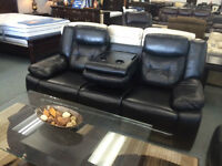 BRAND NEW REAL LEATHER 3 PC RECLINING SOFA, LOVE SEAT AND CHAIR