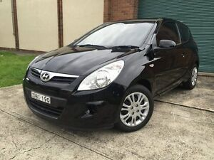 2011 Hyundai i20 PB MY12 Active Black 5 Speed Manual Hatchback Campsie Canterbury Area Preview