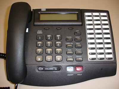 Five Refurbished Vodavi Xts 3015 Phones 3015-71 Charcoal Black 50 Available
