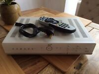 Sky + Box with remote control and power cable