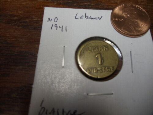1941 ND Lebanon 1 Piastre