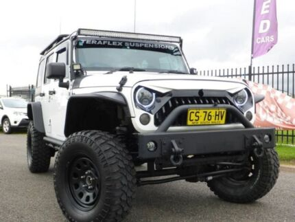 2013 Jeep Wrangler JK MY2013 Unlimited Sport White 5 Speed Automatic Softtop Singleton Singleton Area Preview