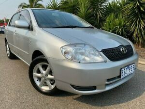 2003 Toyota Corolla ZZE122R Conquest Seca Silver 4 Speed Automatic Hatchback