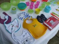 job lot of baby feeding items and containers