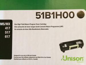 Lexmark High Yield Program Toner Cartridge: 51B1HOO